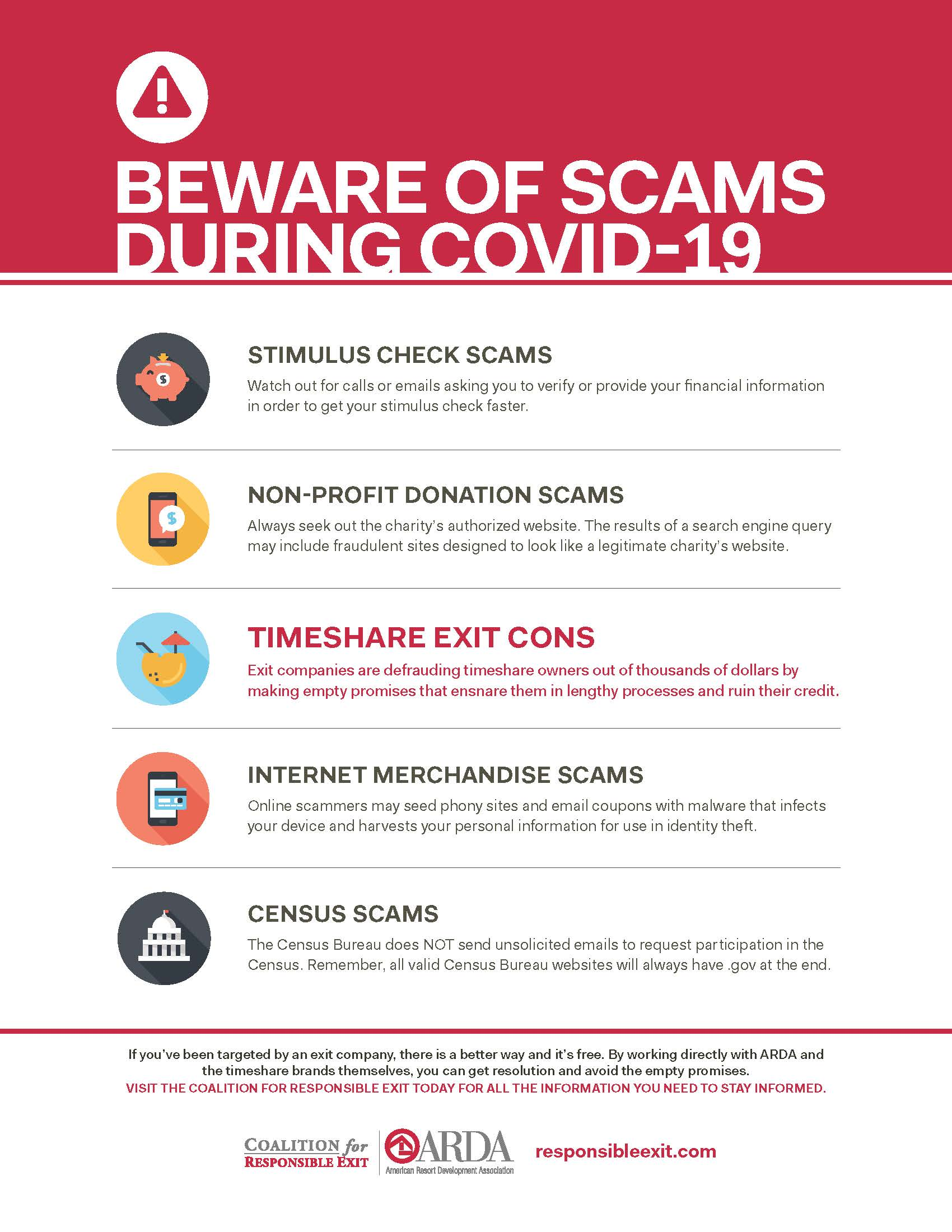 Beware of Scams During COVID-19 Infographic