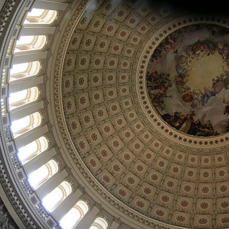 U.S. Capitol Building Dome interior